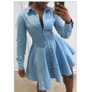Trendy button down dress